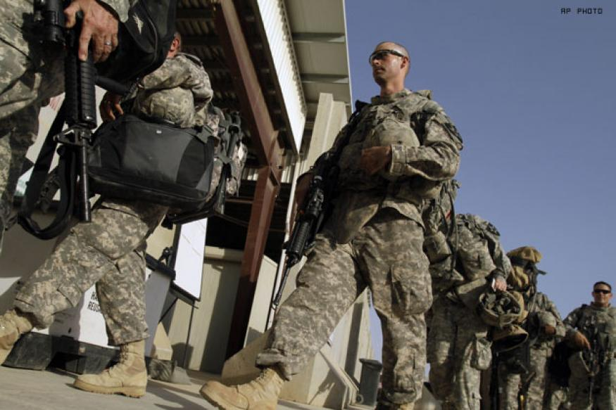 US army cuts combat troop figure in Iraq