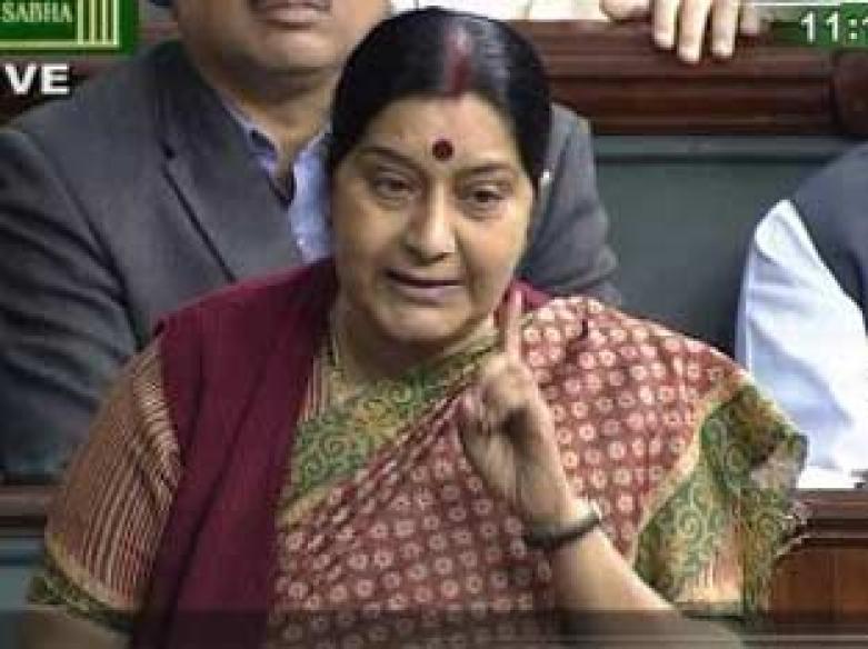 Houses adjourned, Sushma corners govt