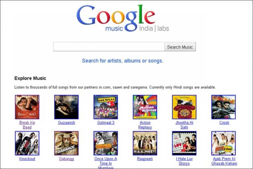 Google Music comes to India with Hindi songs