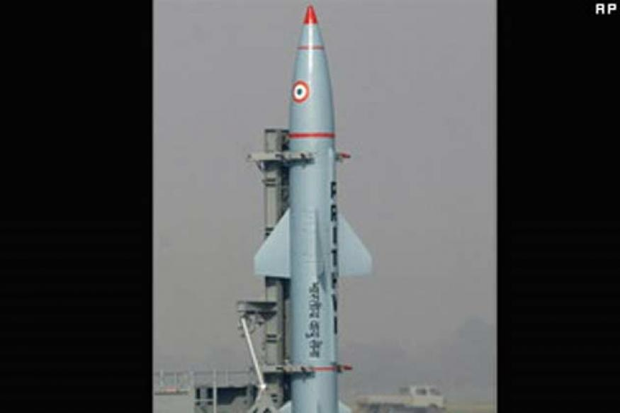 Two Prithvi-II ballistic missiles test-fired