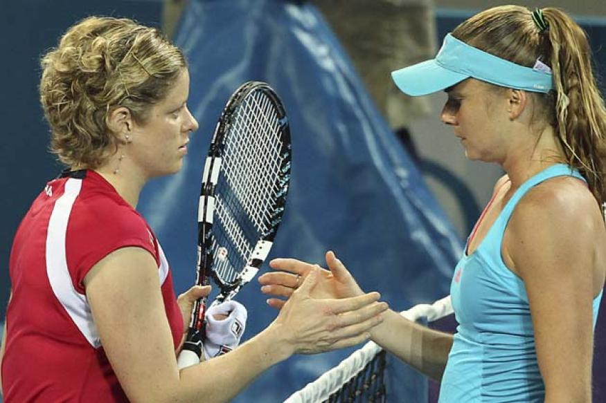 Injury forces Clijsters to quit Brisbane SF