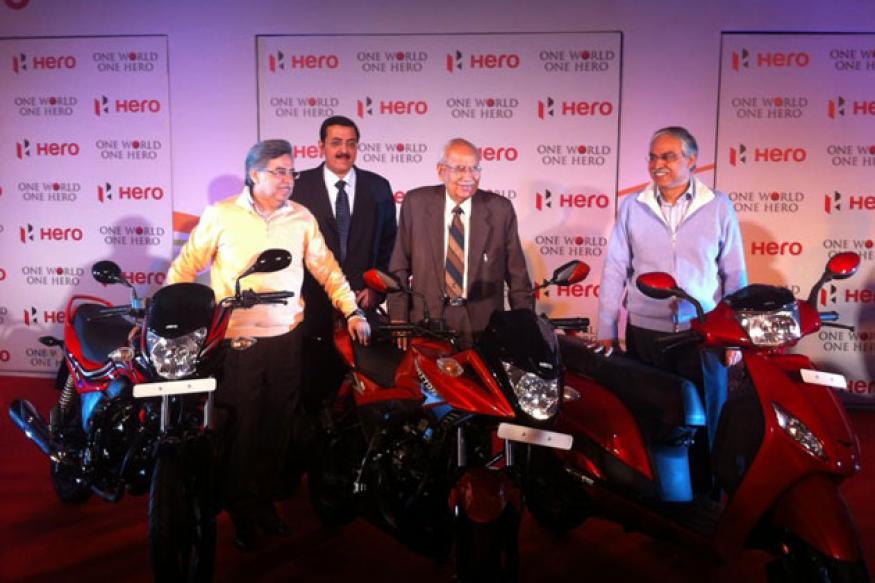 Hero MotoCorp unveils 3 models