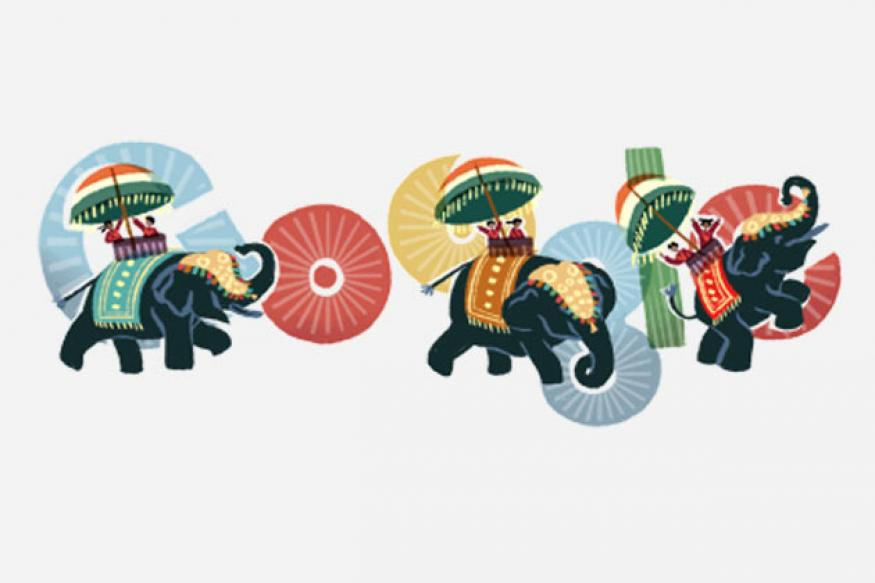 Google doodles the Republic Day of India