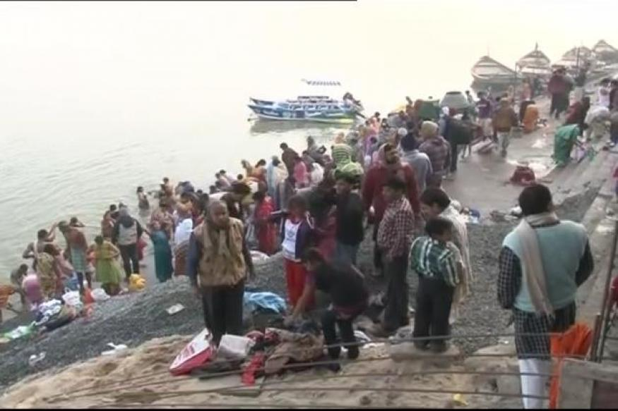Devotees take a holy dip in Arunachal kund