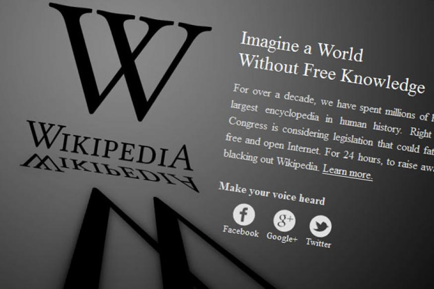 A day without Wikipedia, not quite a day