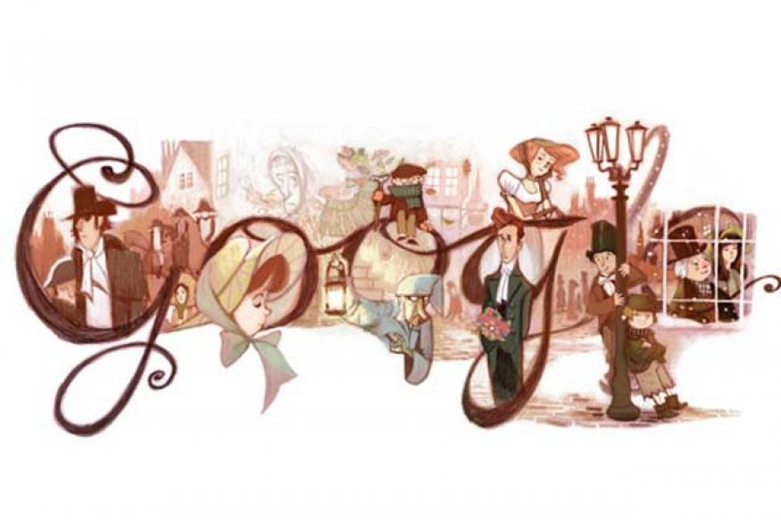 Google doodles Charles Dickens' 200th birthday