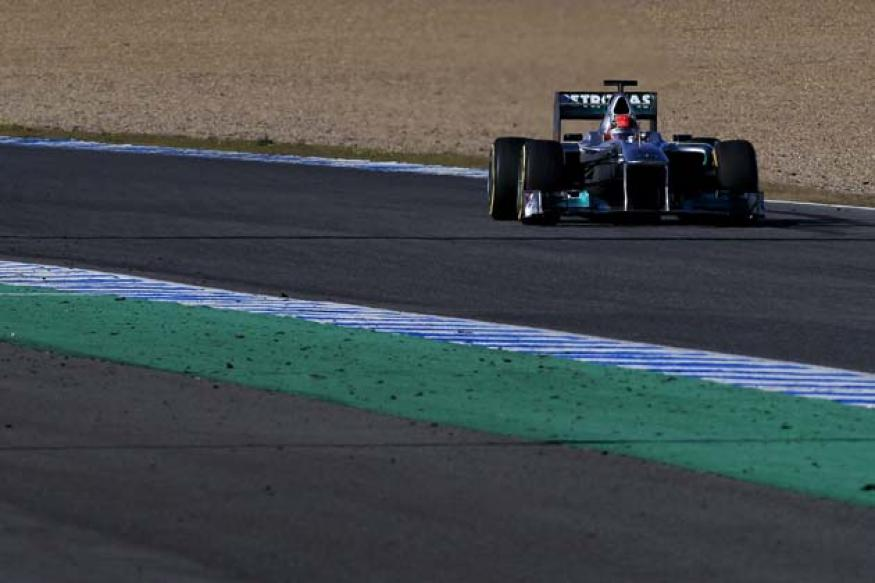 Schumacher fastest on second day of Jerez testing