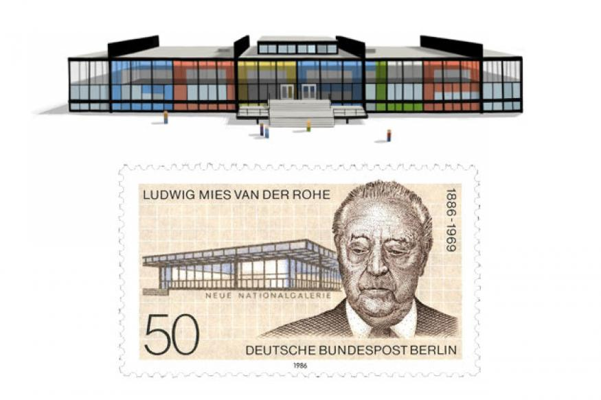 Ludwig Mies van der Rohe's 126th birthday doodle
