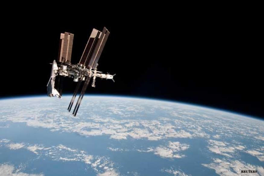 Astronauts rush to safety as space junk whizz by
