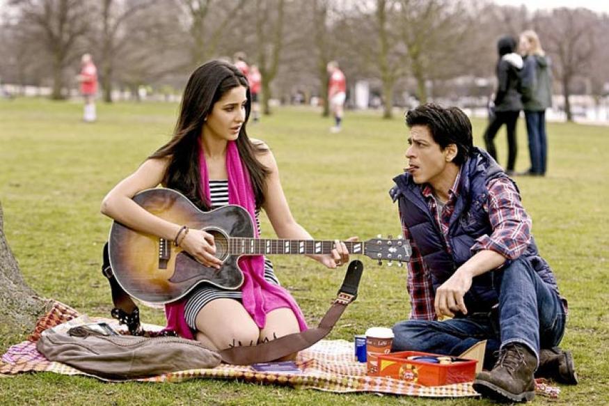 Katrina, Shah Rukh on sets of Yash Chopra's next