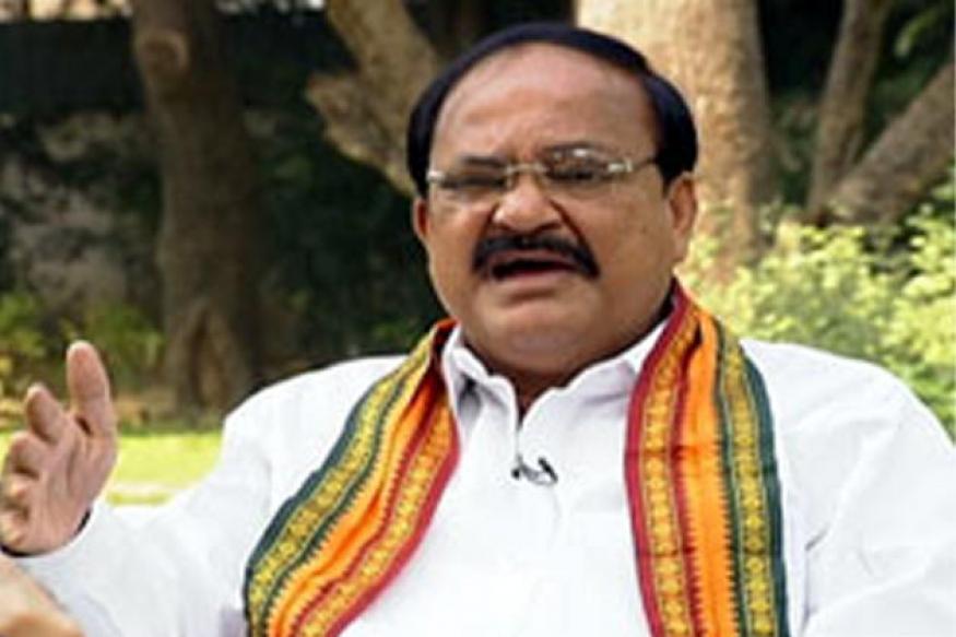 Venkaiah Naidu targets Congress over Rushdie