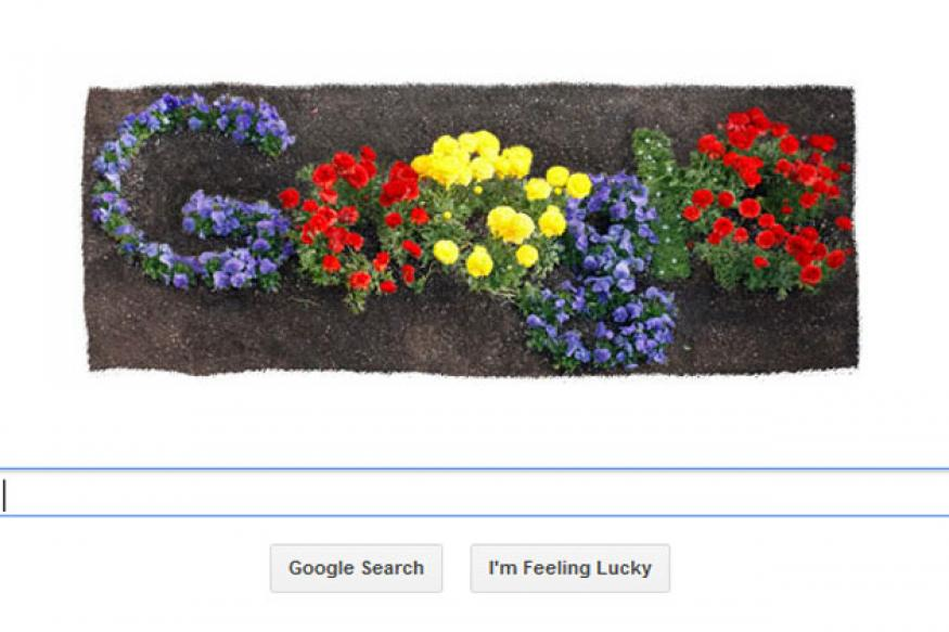 Google doodle celebrates Earth Day 2012