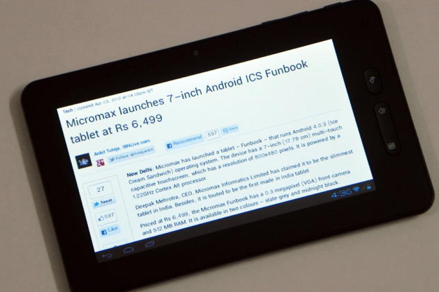 Review: Rs 6,499 Micromax Funbook tablet