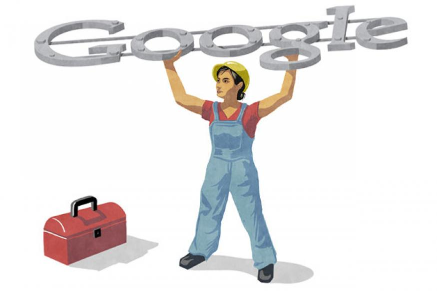 Google doodle marks Labour Day 2012