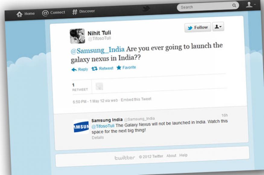 No Galaxy Nexus for Indians: Samsung