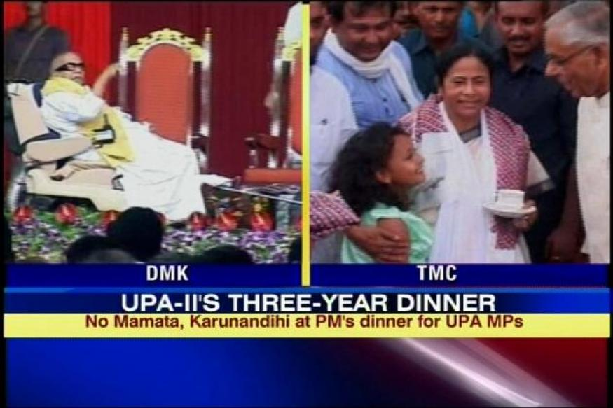 Mamata, Karunanidhi to skip UPA-II's 3-year dinner