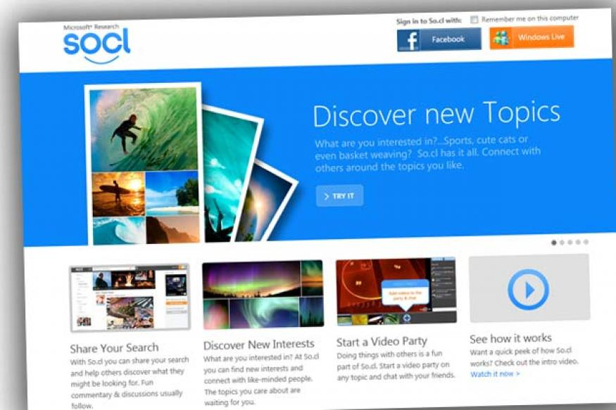 Microsoft launches So.cl social network