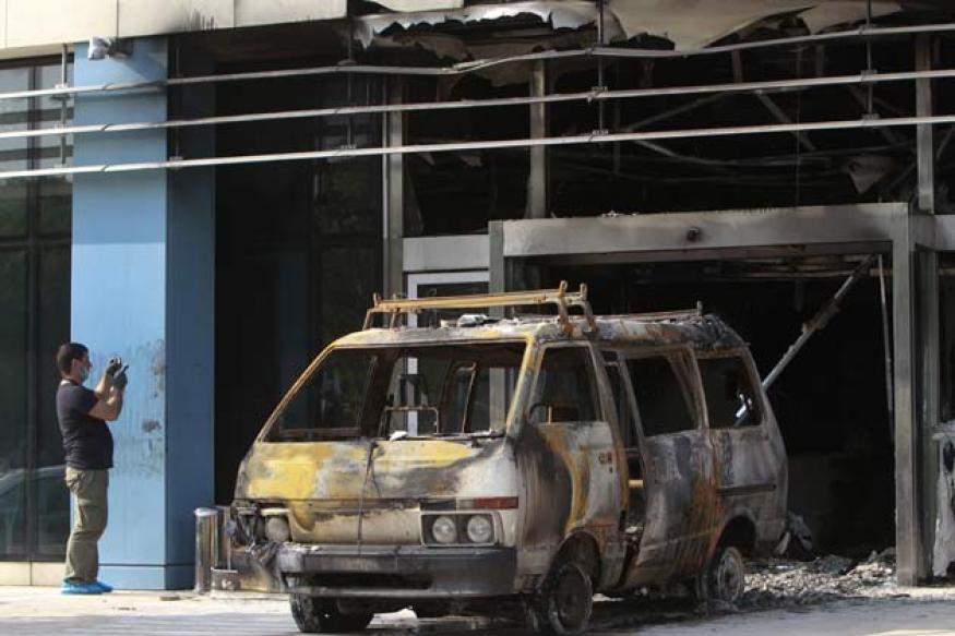 Gunmen ram van into Microsoft's Greek headquarters