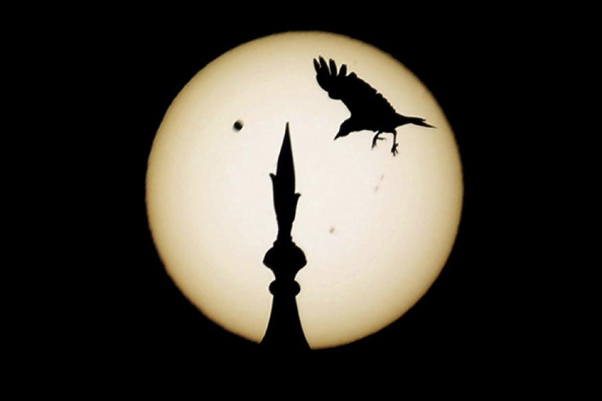 Rare transit of Venus unfolds in the morning sky