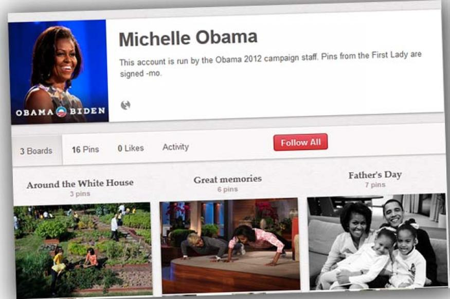 Michelle Obama joins Pinterest