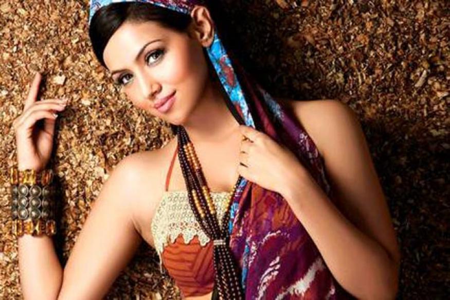 Actress Sana Khan as 'Silk' Smitha in Malayalam