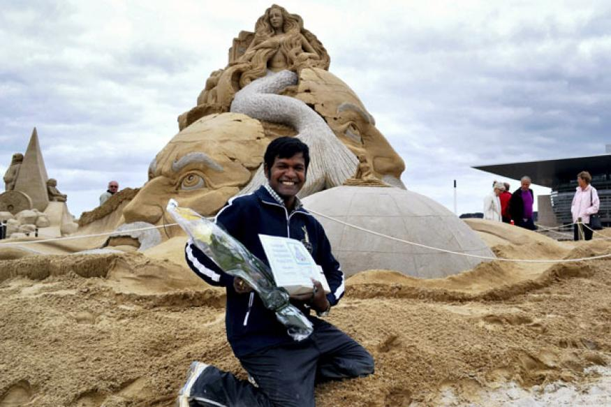 Indian wins Copenhagen sand sculpture contest