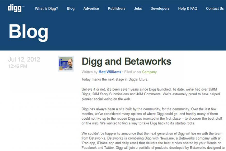 Digg sold for half-a-million dollars