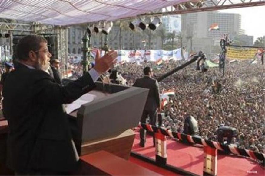Egypt's first Islamist president Mursi sworn in