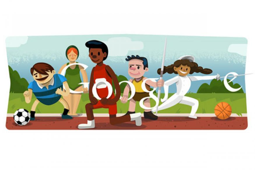 Google doodles opening ceremony London 2012