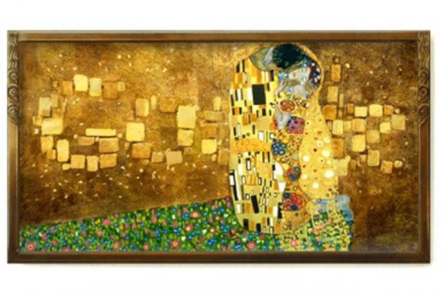 Google doodles Gustav Klimt's 'The Kiss'