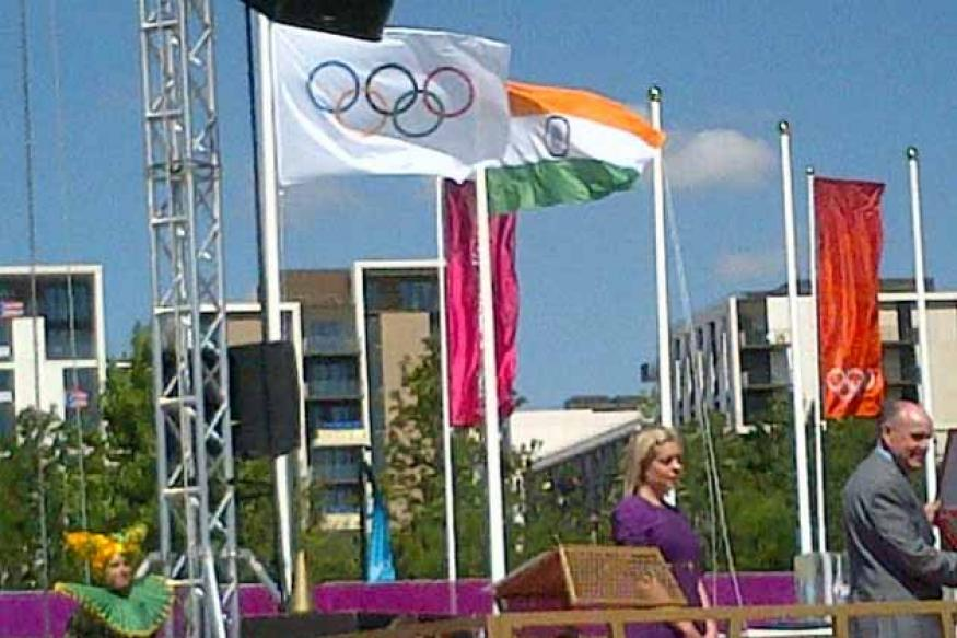 India flag raised at the Olympic Village