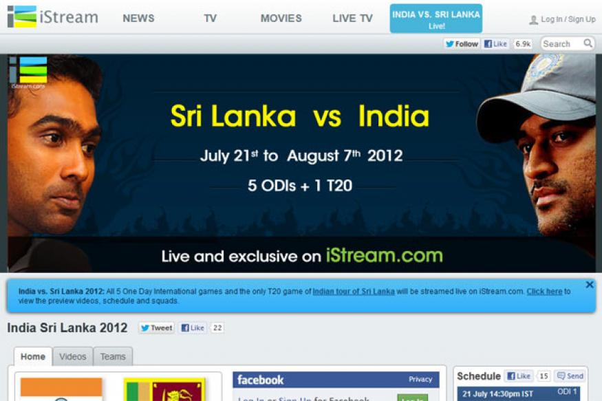iStream.com bags Web rights for India-SL Series