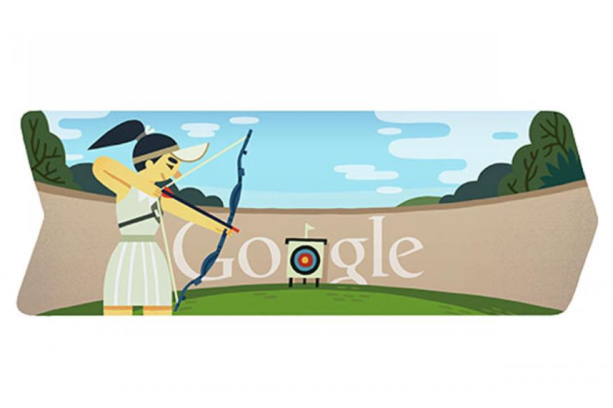 London 2012 archery Google doodle