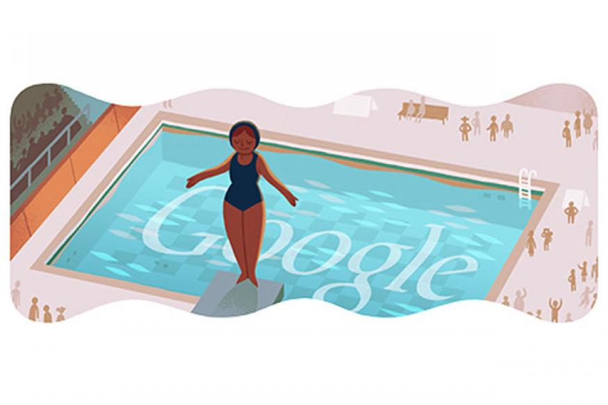 London 2012 diving Google doodle