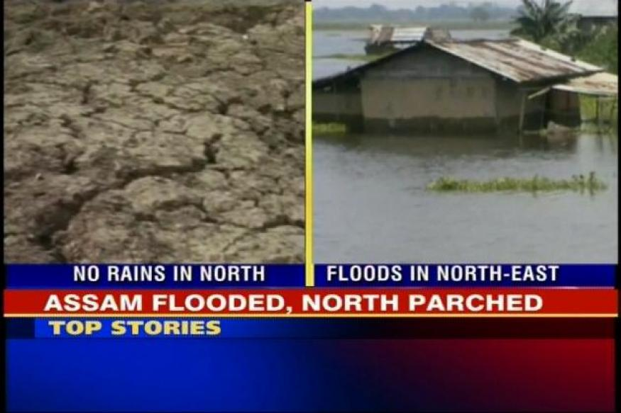 North-East faces flood fury, North India left parched