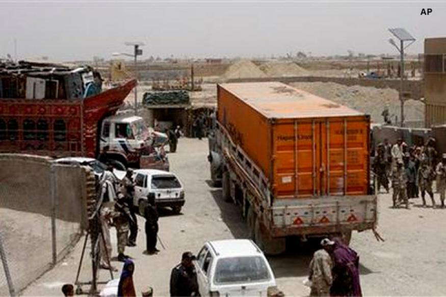 First NATO supply trucks cross Pakistan border