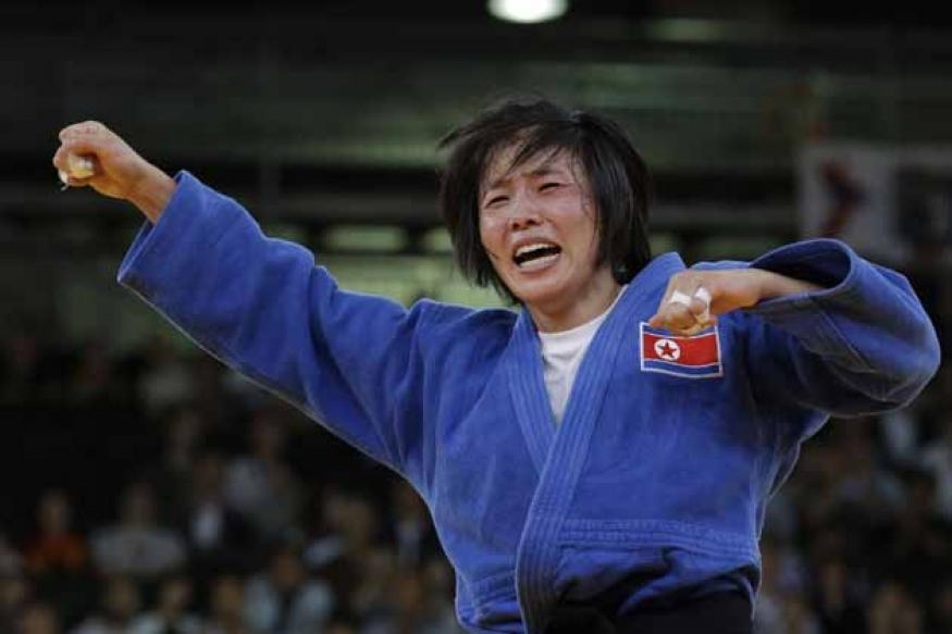 North Korea's Kae wins gold in women's 52kg judo