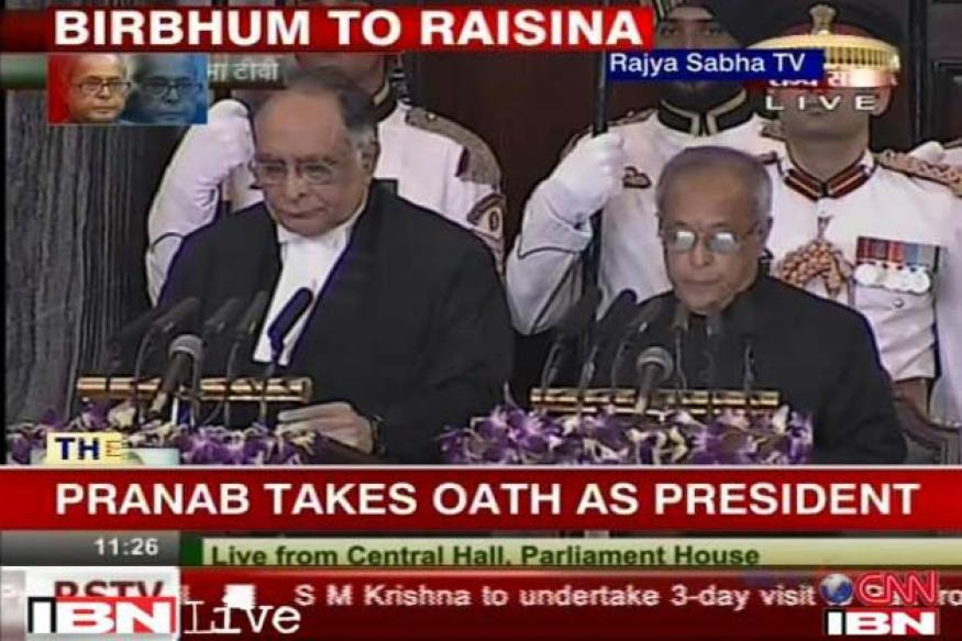 Pranab Mukherjee sworn in as the 13th President