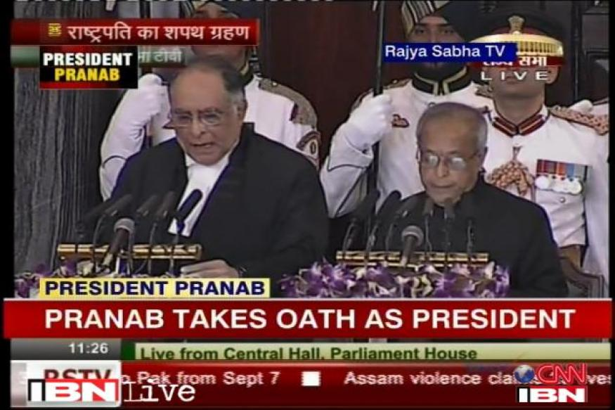 Live: Will defend Constitution, says Pranab