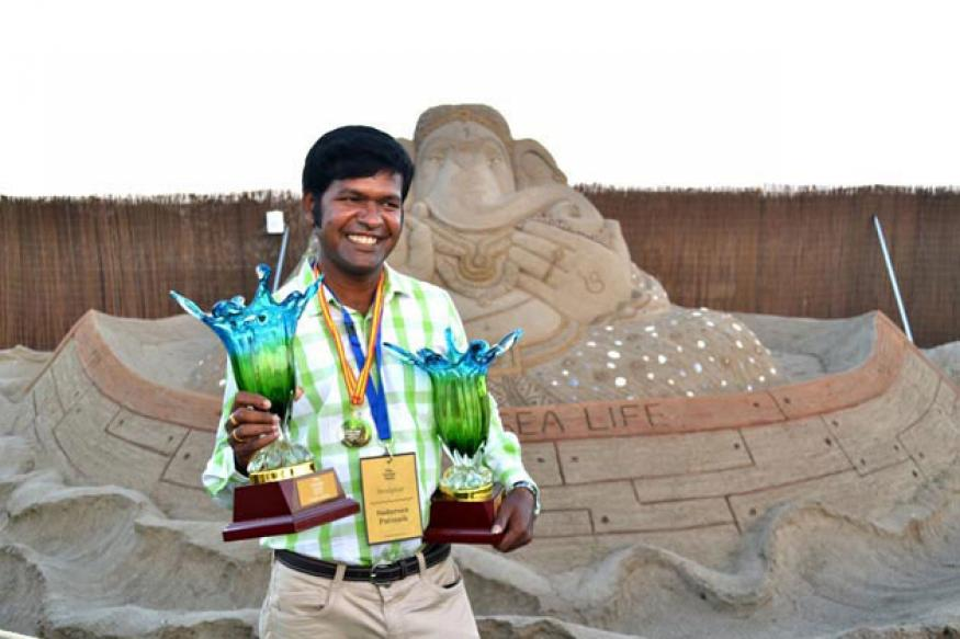 Indian sand artist Sudarsan wins gold in Spain