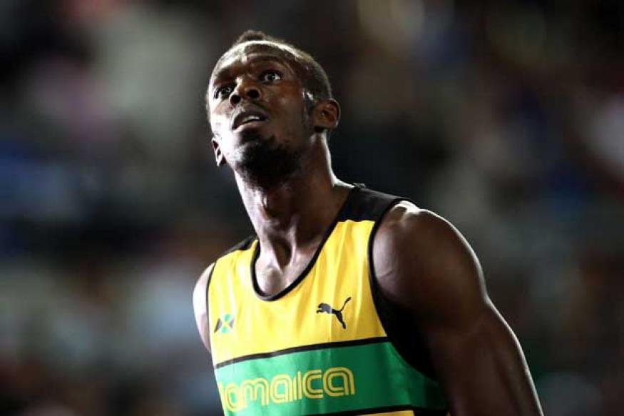 All focus on Bolt's hamstring