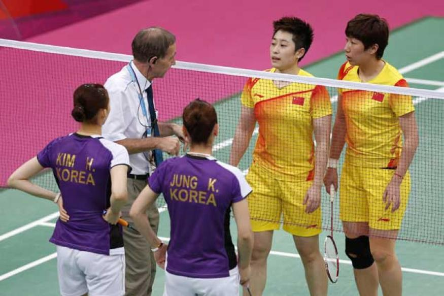 Shuttlers throw matches for favourable draws