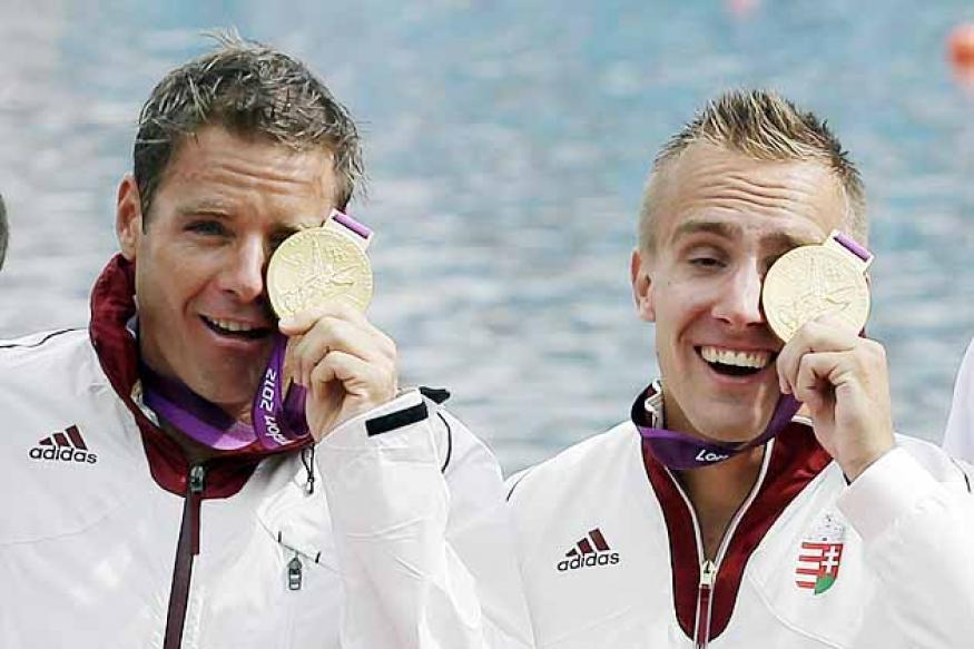 Olympics: Hungary win gold in men's K-2 1000m