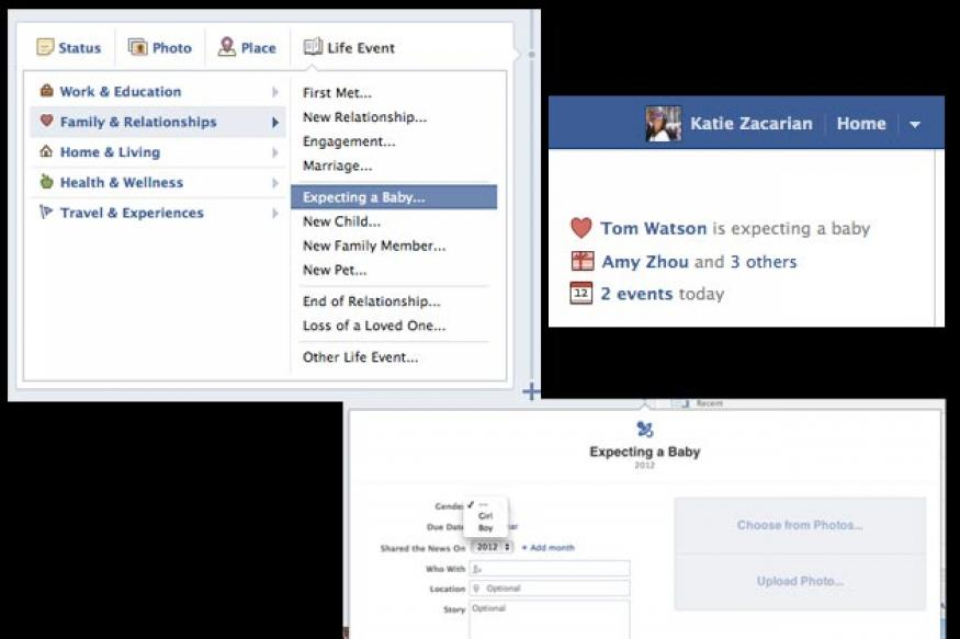Facebook adds 'expecting a baby' Timeline feature
