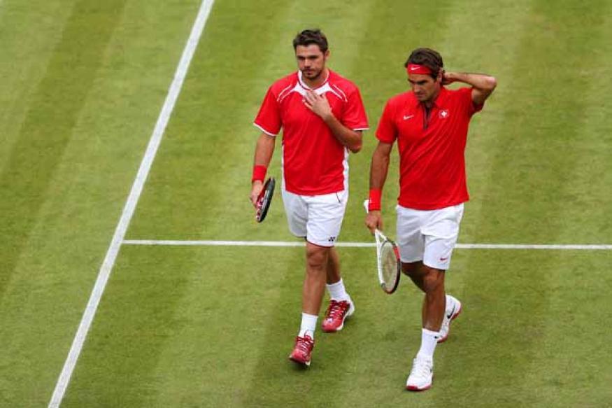 Federer-Wawrinka lose Olympic doubles