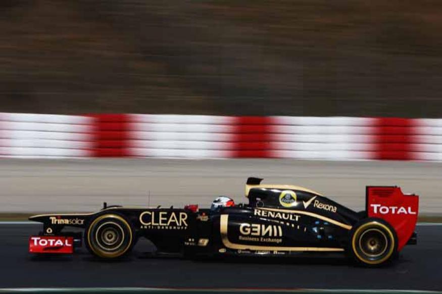 Formula One circuit on a break