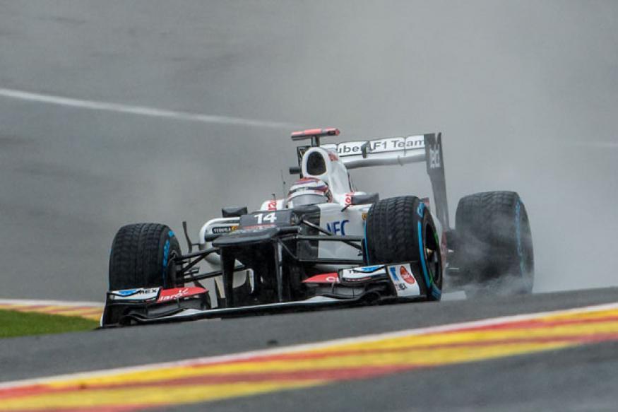 Kobayashi tops Practice 1 at Belgium GP