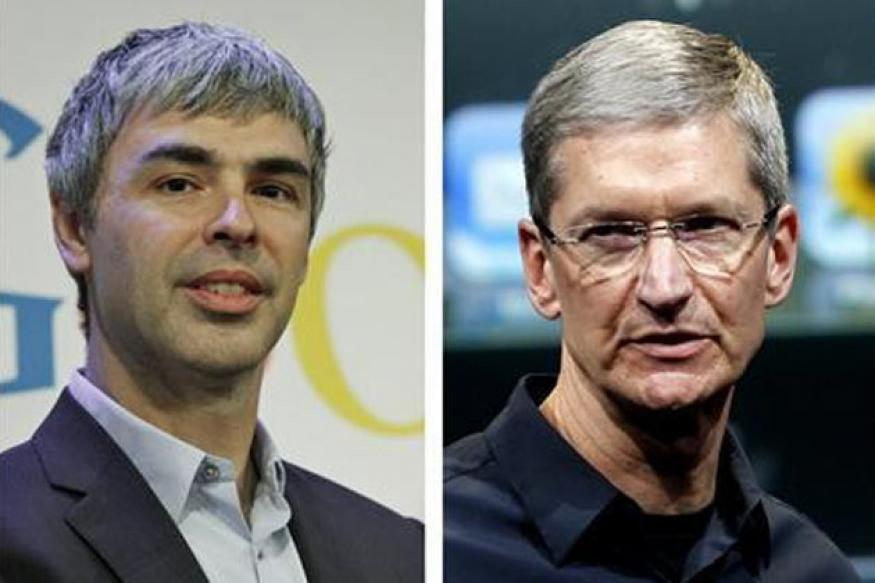 Google, Apple CEOs in secret patent talks