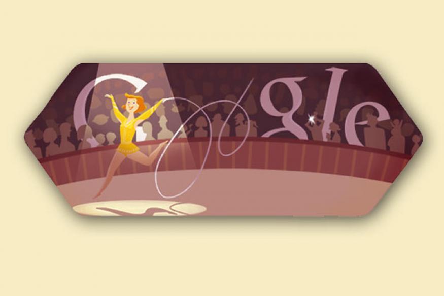 Google doodles London 2012 rhythmic gymnastics