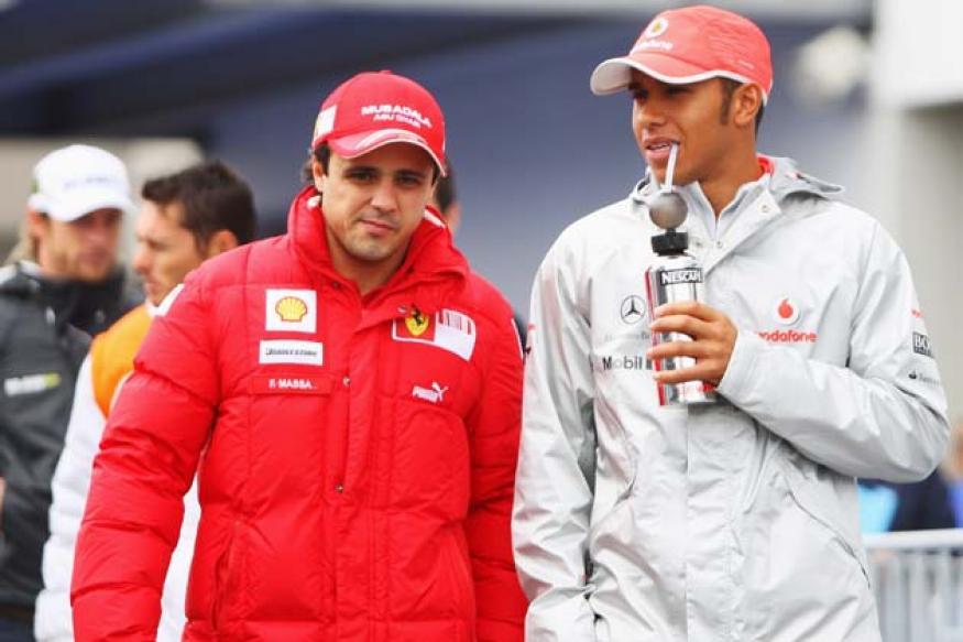 Ferrari driver Massa returns to training